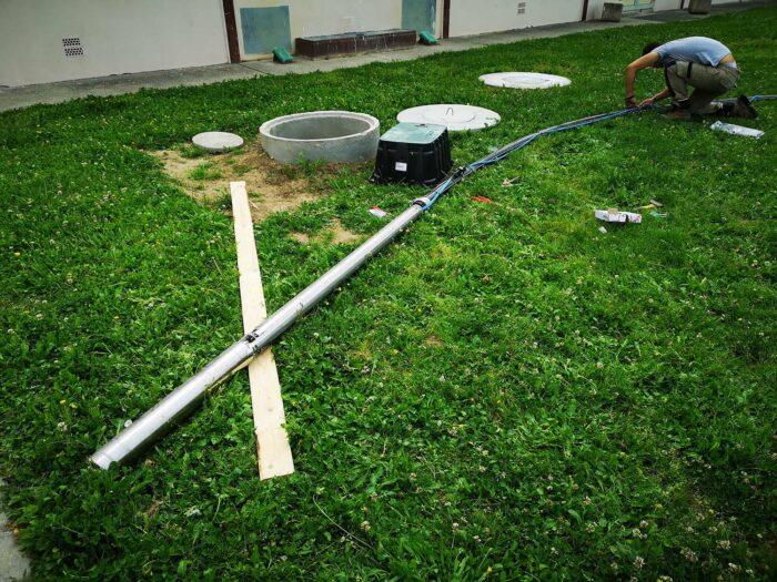 Câblage pompage terrain de bruguières